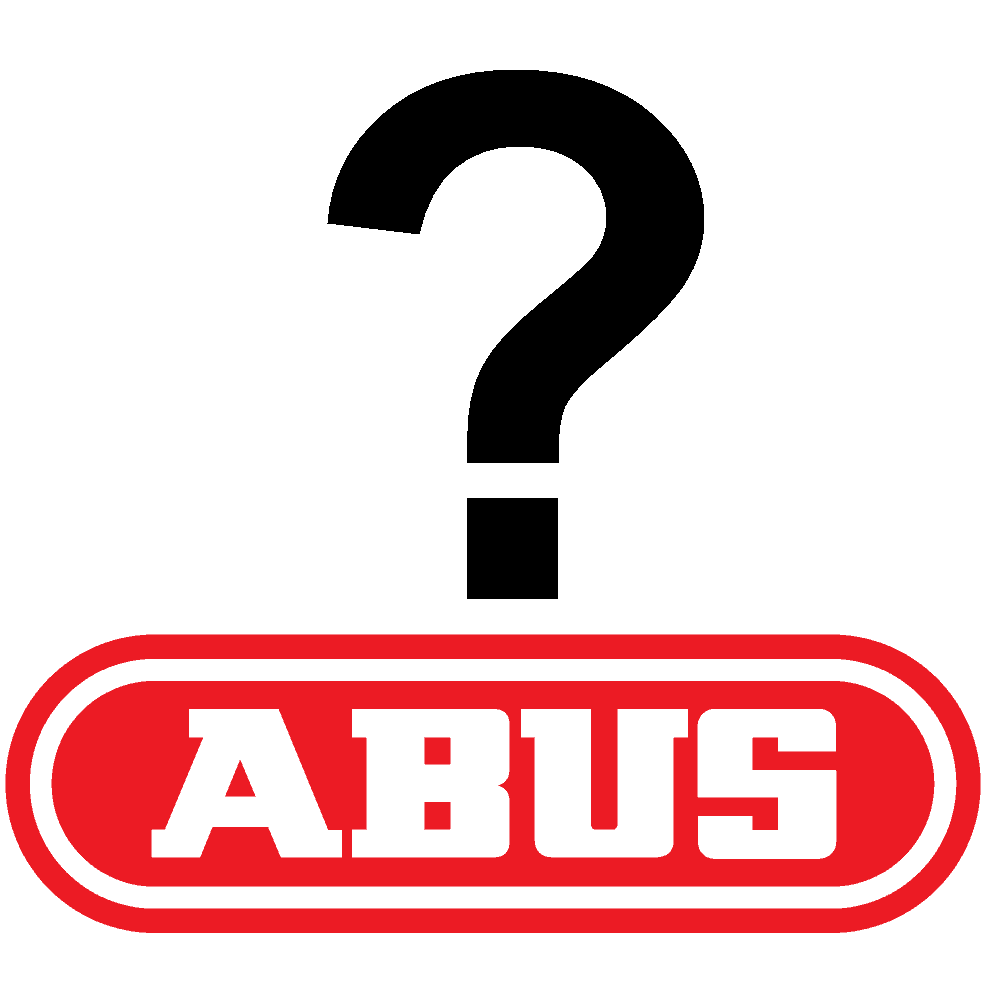 ABUS logo with question mark